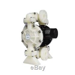 1/2'' Air-Operated Double Diaphragm Pump 15GPM PP/Buna-N Chemical Industrial