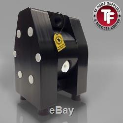 1/2 Dellmeco Air Diaphragm PumpSolid PTFE Body-EPDM-PTFE Seals-Atex