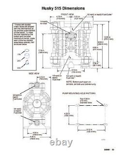 1/2 Graco Husky 515 PP Air Diaphragm Pump (SS/SS/PTFE) D5B331
