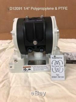 1/4 Graco Husky 205 / AT06/VA06 Air Diaphragm Pump (Poly/PTFE) D12091