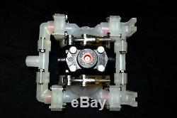 1/4 Polypropylene Air Double Diaphragm Pump 4 GPM 275F SANDPIPER PB 1/4, TS3PP
