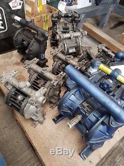 1 Air Operation Diaphragm Pumps Job Lot x11 Spares Or Repair