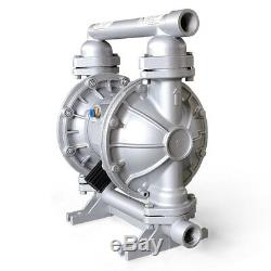 1'' Teflon Air-Operated Double Diaphragm Pump 26.4GPM 100psi 1/2inch Air Inlet