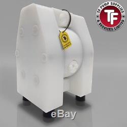 2 Dellmeco Air Diaphragm PumpSolid PTFE Body-PTFE Seals