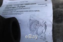 2 Graco Husky 2150 Air-Operated Double Diaphragm Pumps DF3GGG AL, GL, GL, GL