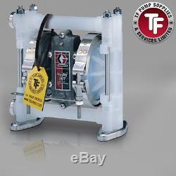 3/8 Graco Husky 307 / AT10/VA10 Air Diaphragm Pump AODD (Poly/Sant) D3B966