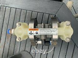 3/8 Graco Husky 307 Polypropylene Air Diaphragm Pump (PP/BN/BN) D32977