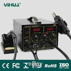 3 In 1 110v/220v Soldering Iron Hot Air Repair Rework Station With Digital Smd