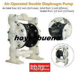 94.6GPM Air Operated Double Diaphragm Pump 1/2in. Outlet Buna-N 1/2in. Air Inlet