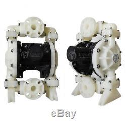 94.6GPM Air-Operated Double Diaphragm Pump PP Aluminium 275.59Ft 1/2'' Air Inlet