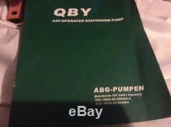 Abg-pumpen air diaphragm pump qby1-25-al-bn flow 0-2.4 m3/h air pressure 2-7 kg/