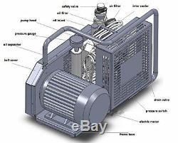 Air-Cooling 230V 160W Oil-less Diaphragm Pump, Hookah Dive System Compressor