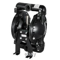 Air-Operated Double Diaphragm Pump 35 GPM Aluminum Max 120PSI, QBY4-25L