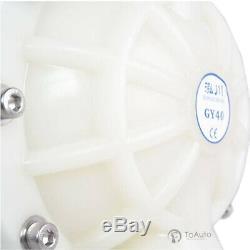 Air-Operated Double Diaphragm Pump 41.5GPM 157L/min 1/2'' Air Inlet (Santoprene)