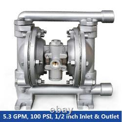 Air-Operated Double Diaphragm Pump 5.3GPM 1/2'' Inlet&Outlet Petroleum Fluids