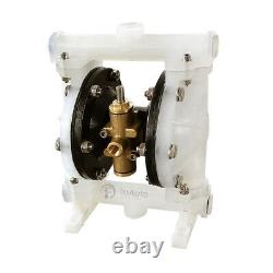 Air-Operated Double Diaphragm Pump PTFE 5.3GPM 20L/min 100PSI Chemical Liquids