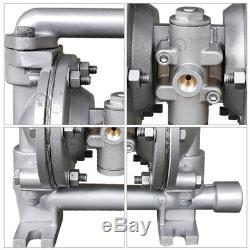 Buna-N Air-Operated Double Diaphragm Pump- 5.3GPM, 1/2'' Inlet & Outlet Gasoline
