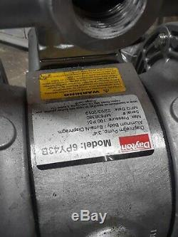 DAYTON 6PY43 Double Diaphragm Pump, Aluminum, Air Operated, Buna N, 28 GPM
