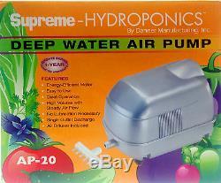 Danner/Supreme 40522 Hydro AP-20 Air Pump-hydroponics-aquaponics-aquarium-fish