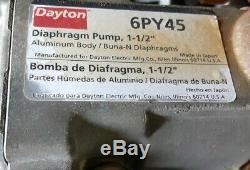 Dayton 6PY45 Aluminum Air Double Diaphragm Pump 115GPM 100PSI 1-1/2