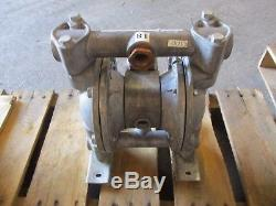 Diaphragm Pump No Tag #83150g Air Operated Alum Body Used
