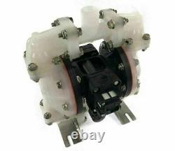 Double Diaphragm Air Pump Chemical Industrial Polypropylene 1/2 NPT Inlet / Out