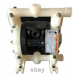 Double Diaphragm Air Pump Chemical Industrial Polypropylene 1/4 or 3/8 NPT Inle