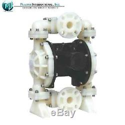 Double Diaphragm Air Pump Chemical Industrial Polypropylene 1 inch