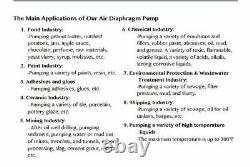 Double Diaphragm Air Pump PII. 38 Chemical Industrial Polypropylene 3/8 NPT Inle