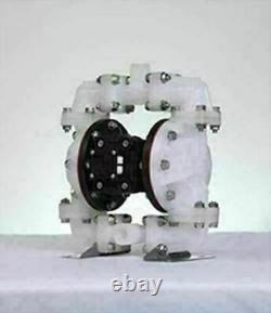 Double Diaphragm Air Pump PII. D50 Industrial Polypropylene 1/2 NPT Inlet / Outl