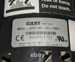 GAST 22D1180-201-1003 Miniature Diaphragm Air Compressor Pump, 115V, 1/20 HP