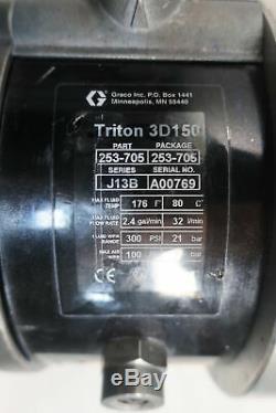 Graco 253-705 Triton 3d150 Air-operated Double Diaphragm Pump 2.4gpm