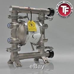Graco SaniForce 515 FDA Sanitary Air Diaphragm Pump FD5113 PTFE/PTFE/oPTFE