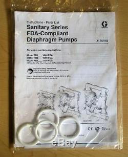 HUSKY GRACO D75A11 1 1040 Polypropylene Air Operated Diaphragm Pump A03C