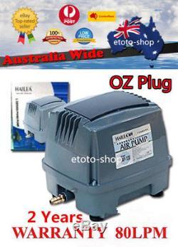 Hailea HAP-80 Hiblow Aquarium Pond Septic Linear Air Pump 80L/M -OZ Plug