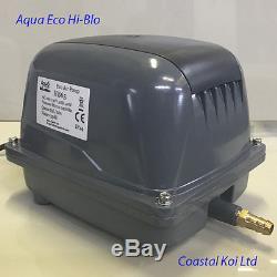 Hi Blow Air Pump Aqua Eco 65,80,100,120 Ltr Koi Pond Filter Sewage Low Watts