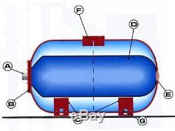 IBO vessel INOX St. Steel PRESSURE AIR/WATER TANK 100L EPDM membrane/diaphragm