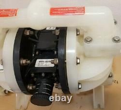 Lutz Compressed Air Double Diaphragm Pump PPE 5702 + 100 NEW Chemicals Transfer
