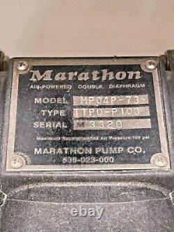 Marathon Air Powered Double Diaphragm Pump Model MP04P-73 Type TTP0-P100