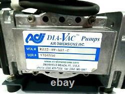New Air Dimensions Inc R222-bt-aa1-c Dia-vac Motor Pump 5kh35jnc397at R222btaac1