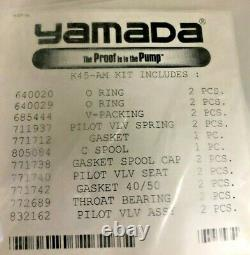 New Yamada Diaphragm pump parts K45-AM KIT Includes