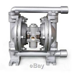 PTFE Air-Operated Double Diaphragm Pump 1/2 Inlet&Outlet Aluminum Alloy 100PSI