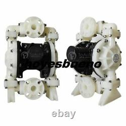 PTFE Double Diaphragm Pump Air-Operated 94.6GPM 1/2'' Air Inlet Chemical Liquid