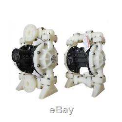 Polypropylene Air-Operated Double Diaphragm Pump PTFE-1'' Inlet & Outlet 41.5GPM