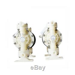 Polypropylene Double Diaphragm Pump Air Operated 94.6GPM 1 inch Inlet Santoprene