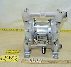 Roughneck #58241, Air-Operated Double Diaphragm Pump, Flow Rate 16 GPM 115 PSI