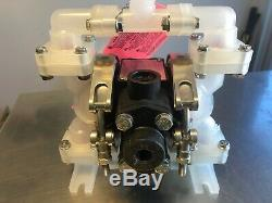SANDPIPER PB 1/4, TS3PP. Double Diaphragm Pump, Polypropylene, Air Operated