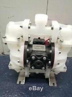 SANDPIPER S07B1P2PPNS000 Double Diaphragm Pump, Polypropylene, Air Operated, 23