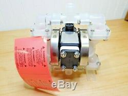 Sandpiper Air Operated Diaphragm Pump Nonmetallic 1/4 NPT 100 PSI PB1/4, TS3PP