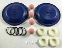 Santoprene Double Diaphragm Wet End Kit for a 1/2 or 3/4 Air Diaphragm Pump